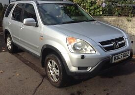 Silver, CRV IVTEC SE Sport, 141k, serviced annually, new battery, MOT to end May 17, FFS, CD Stereo