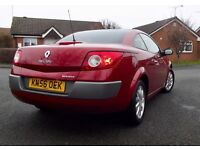 Renault Megan Convertible 59k Panoramic Roof 6 Speed Service History Facelift Model 4 New Tyres