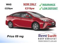 PCO Toyota Prius 69reg £219pw incl INSURANCE. Private Hire minicab car rent in London uber rental