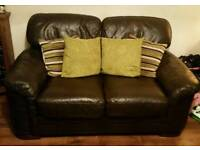 Gorgeous brown leather suite