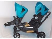 NEW ABC DESIGN ZOOM STYLE TANDEM TWIN DOUBLE PUSHCHAIR