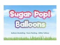 Balloon Modelling, Face Painting, Glitter tattoos - Prices from £25