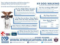 Dog Walking - Your Dog Only - Fully Insured - DBS Checked - Canine First Aider