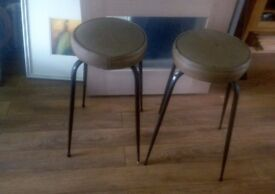 Retro metal stools for restoration project