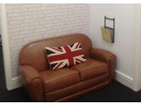 Jazz Club sofa - 2 Seater - Cognac/Light Tan