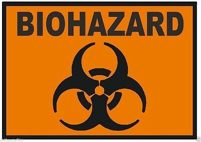 Home Decoration - Biohazard Sticker Toxic Chemical D238 YOU CHOOSE SIZE