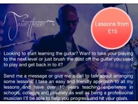 Guitar Lessons in Bristol available