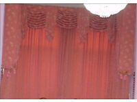 Complete curtain sets with pelmet.