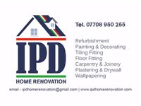 IPD Home Renovation, HIGH QUALITY SERVICES - Painters, Tiler, Laminate, Carpentry, Drywall,and more