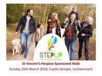 Step Up for St Vincent's Hospice, sponsored walk, Sunday 25th March