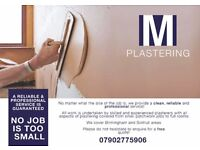 PLASTERER with 20 YEARS experience AND CLEAN AND TIDY