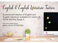 English and English Literature Tuition to GCSE and KS3