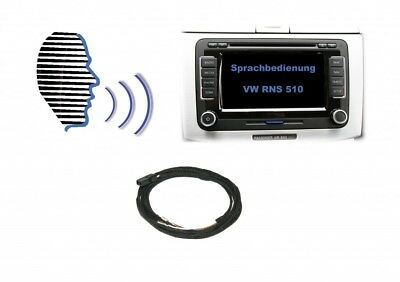 Original Kufatec Cable Retrofit Kit Voice Control for Vw Rns 510+ Microphone