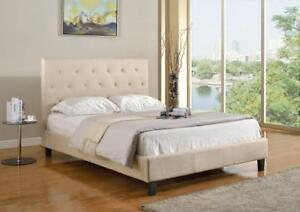 KING BED FRAME - BEST SELECTION OF PLATFORM BEDS ON OUR WEBSITE- WWW.KITCHENANDCOUCH.COM(BD-1066)
