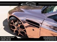 High Quality Chrome Car Vinyl Wrap , Rose Gold , Silver , Gold ,Red , Green , Blue - Many Sizes