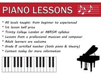 Piano Lessons from Beginner to Advanced...