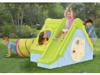 NEW KeterFuntivity Playhouse Tunnel & Slide Garden Child Kids FREE DELIVERY UK