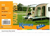 KAMPA RALLY 200 PORCH AWNING pre-owned