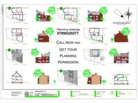 DRAWINGS FOR PLANNING, Architectural Services, Planning Permission, Rear extension, Loft co. Online