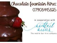 Chocolate fountain, candy floss, popcorn cart Hire