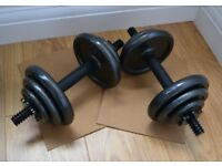 Opti 20Kg Cast Dumbbell Set As New