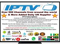 IPTV UPGRADE FOR ZGEMMA FIRSTICK SMART TV ANDROID AND OTHER DEVICE UK NO1 IPTV