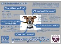 K9 Beginners Class - Starting Tuesday 16th Jan 18 @ 7.30pm - Book Your Place Now!!!!