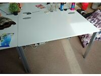 professional office rectangle desk table white
