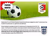 Bartley Reds U14's want you