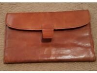 Tan vintage real soft leather gentleman's wallet in immaculate condition.