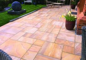 sandstone slabs rainbow paving slabs 16.60m2 pack