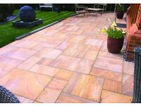 sandstone slabs rainbow paving slabs 16.60m2 pack FREE LOCAL DELIVERY