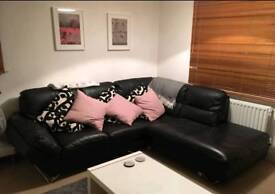 Leather corner sofa L-shape