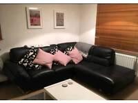 Leather corner sofa L-shape
