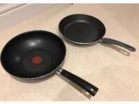 Tefal wok and large IKEA frying pan