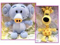 Raa Raa soft plush toys Giraffe Elephant
