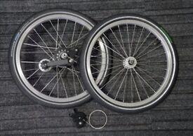 brompton 3 speed wheels (schwalbe marathon, shifter & chain tensioner)