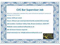 Excellent Bar Supervisor Job in North Hampshire