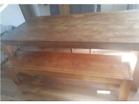 High Quality Solid Wood Dining Table and Bench