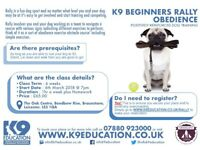 K9 Beginners Rally Obedience - Starting 6th March 2018 @ 7pm