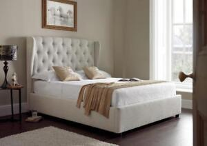 ***BLOW OUT SALE* BLOW OUT SALE-Luxury European fabric lift up storage bed