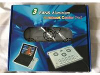 3 Fans Aluminium Notebook/Laptop Cooler Pad USB in Original Box