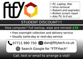 """FTFY computer services, STUDENT DISCOUNT!! Canterbury and surrounding area, """"no fix - no fee"""""""