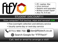 "FTFY computer services, STUDENT DISCOUNT!! Canterbury and surrounding area, ""no fix - no fee"""