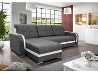 Corner sofa bed sofa bed UK STOCK 1-5 DAY DELIVERY Dafne (Grey Black)