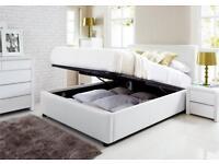 New leather ottoman storage bed & free mattress