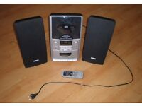 LIFETEC CD Micro Audio System: CD and Radio Player, Cassette Player and Recorder (q)