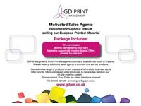 Commission Based Print Sales Agent Required