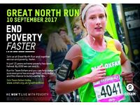 Run the Great North Run with #TeamOxfam and show poverty the finish line