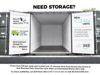 Cheap, clean and secure container storage in Bristol. Just £35 per week